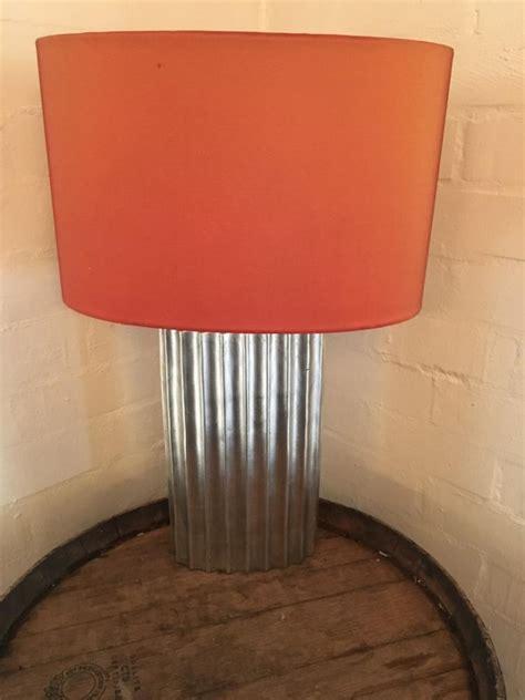 orange l shades amazon silver base table lamp orange shade