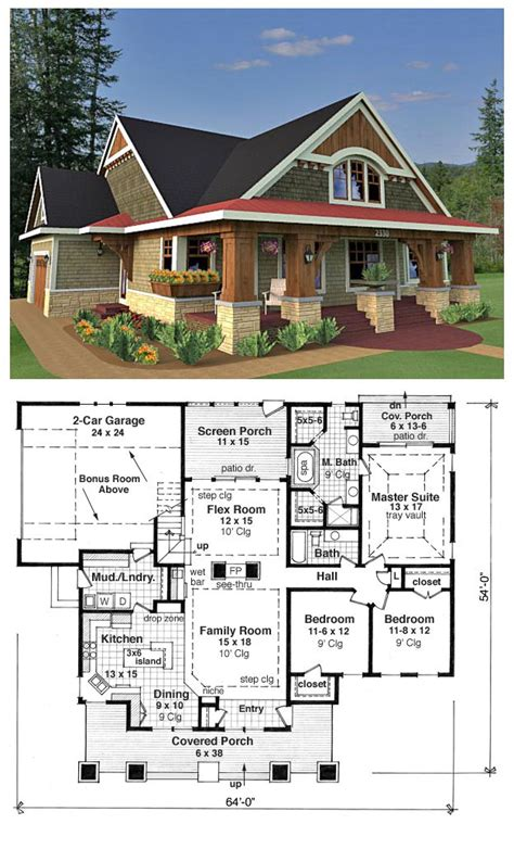 traditional style house plan    bed  bath  car garage dream house plans house