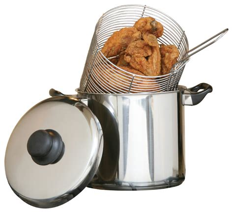 stainless steel deep fryer  quart stovetop traditional