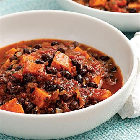 chili beans recipe sweet potato black bean chili recipe eatingwell