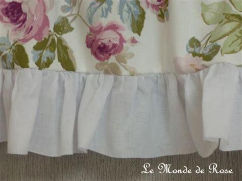 le monde de catalogue rideau bonne femme sur mesure aubusson blanc