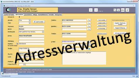 adressverwaltungsprogramm mit kontaktmanagement