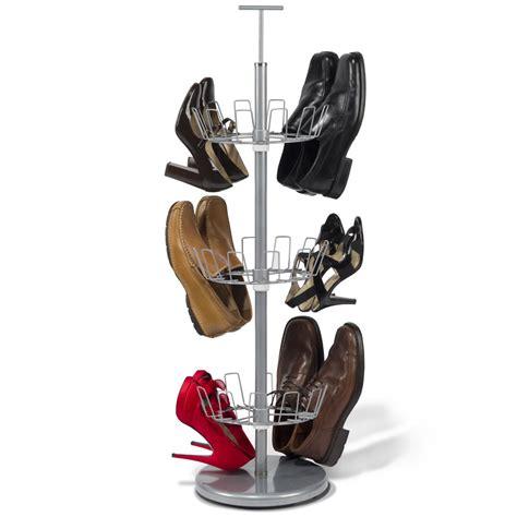 space saving  pair shoe rack hammacher schlemmer