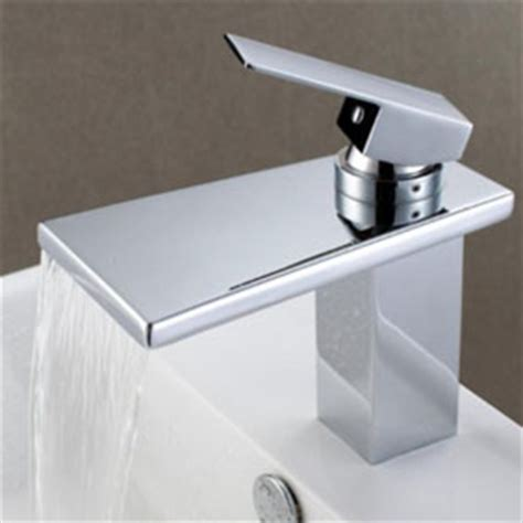 contemporary kitchen taps uk contemporary waterfall bathroom sink tap chrome finish 5734