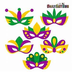 Mardi Gras Masks Clip Art Set – Daily Art Hub – Free Clip ...