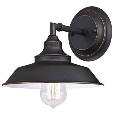 westinghouse iron hill 1 light rubbed bronze wall