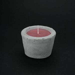 Pot A Bougie : pot bougie violette la figue 10cm en b ton et paraffine ~ Teatrodelosmanantiales.com Idées de Décoration