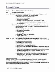 States Of Matter Lesson Plan For 1st Grade