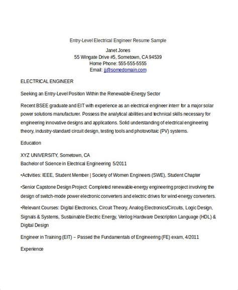 engineering resume template   word documents