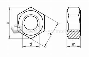 M6 Mutter Maße : nironorm sechskantmutter m8 din934 ~ Watch28wear.com Haus und Dekorationen