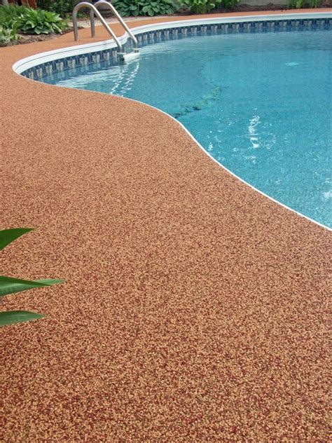 surfaced pool deck  rubaroc rubber safety surfacing