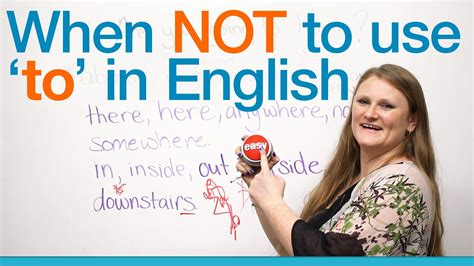 When Not To Use 'to' In English  Grammar Youtube