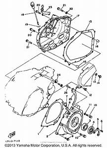 Crankcase Cover For 1987 Yamaha Warrior 350