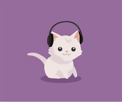 Cat Animated Cats Animals Gifs Animations Down