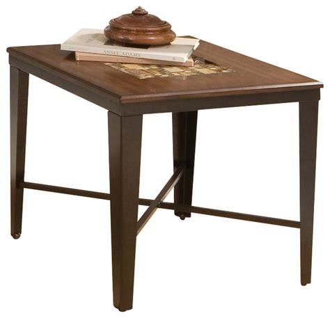 steve silver company emeril end table with glass tile