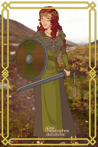 Celtic Warrior Woman ~ by Fractal