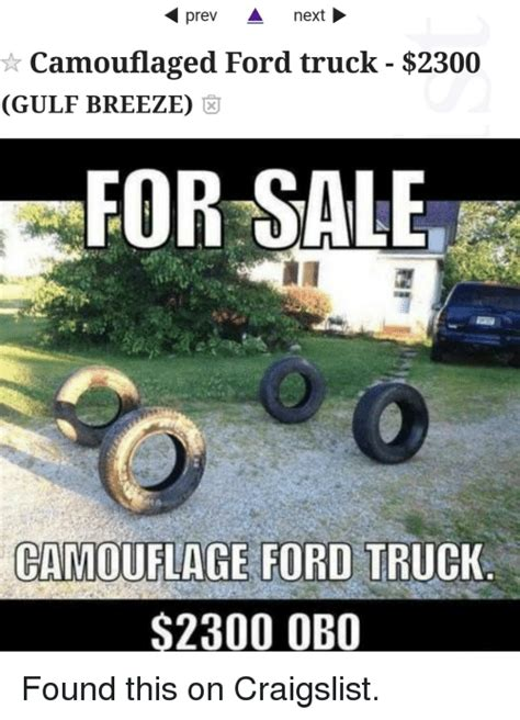 Prev a Ne Camouflaged Ford Truck $2300 GULF BREEZE FOR ...