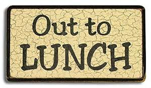 Out to Lunch Sign Clip Art