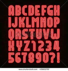 Glowing Red Neon Alphabet Letters Z Stock Vector