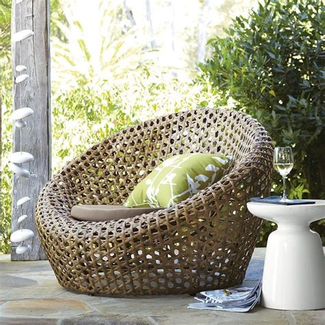 montauk nest chair antique palm modern outdoor lounge