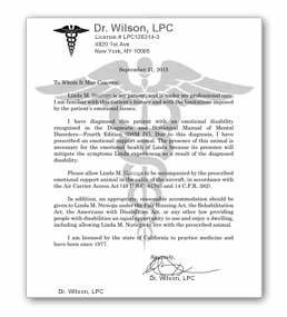 doctor letter for airlines and housing payment link us With letter from doctor for service animal