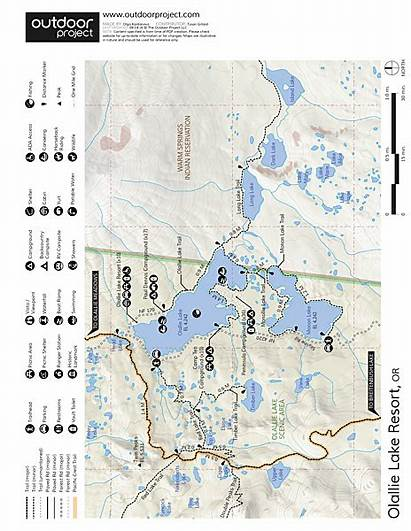 Olallie Lake Resort Map Oregon Outdoorproject