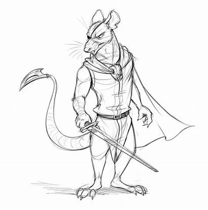 Redwall Cluny Scourge Sketch Temiree Taggerung Anthro
