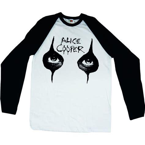 alice cooper eyes long sleeve baseball shirt