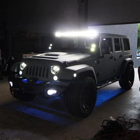 jeep light bar at night led light bars love jeep pinterest led light bars