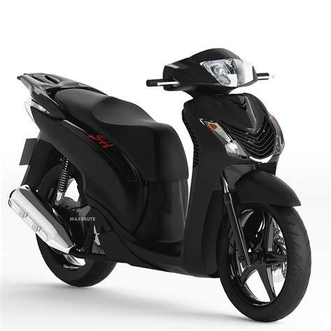 Motorcycle xe máy 3dsmax Sketchup SH 150i Black ?en m?