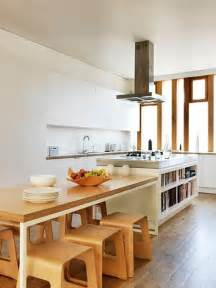 narrow kitchen island table the idea of a table connected to an island great look for a narrow space that must