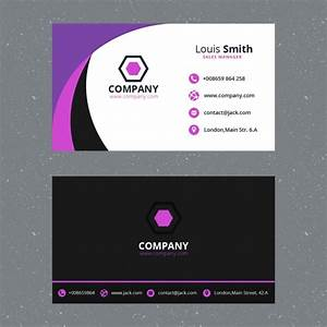 Purple business card template flashek Image collections
