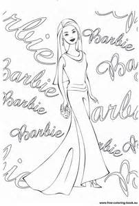 Barbie Doll Coloring Pages Printable