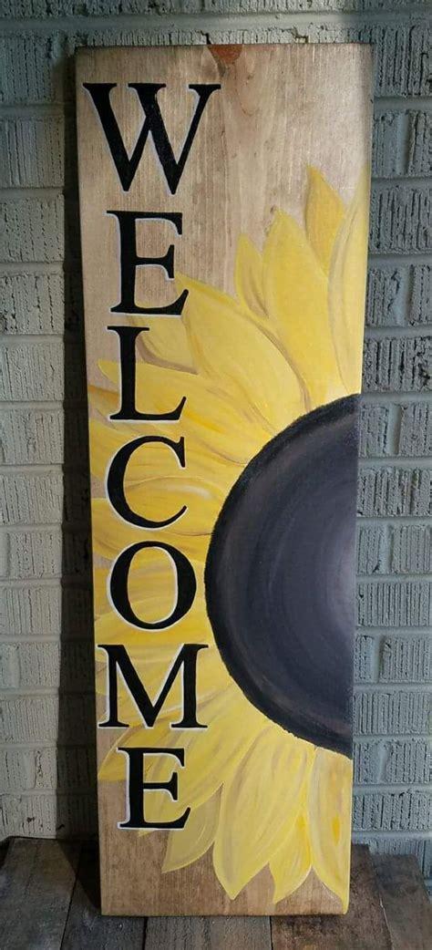 sunflower  sign wooden  signs diy