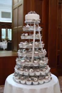 wedding cake and cupcakes iced lilac cupcake wedding cake