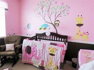 cute baby girl bedding ideas that matched the wall decals With cute little girl wall decals ideas