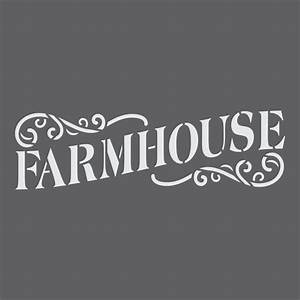 farmhouse sign craft stencil by crafty stencils With farmhouse letter stencils