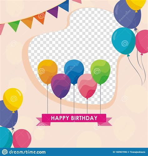 happy birthday card template design  trendy  cute