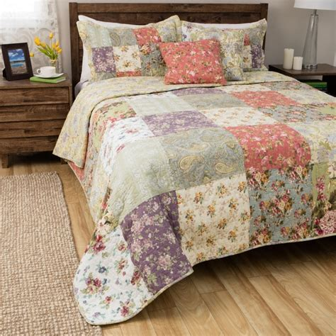 shop greenland home fashions blooming prairie queen size