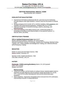 experienced healthcare professional resume resume sle for a coder susan ireland resumes