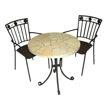 lucerne bistro table with 2 pineda chairs