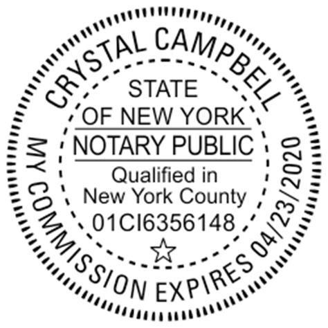 official  york notary seal stamp simply stamps