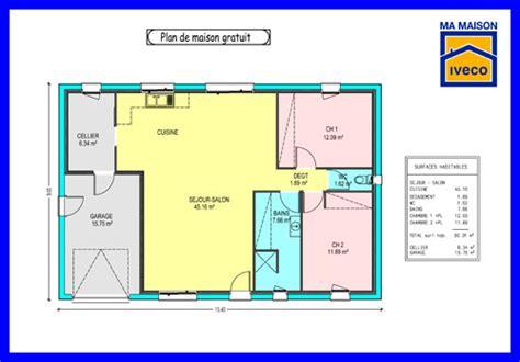 plan maison plain pied 3 chambres gratuit plan maison plain pied 70m2 gratuit