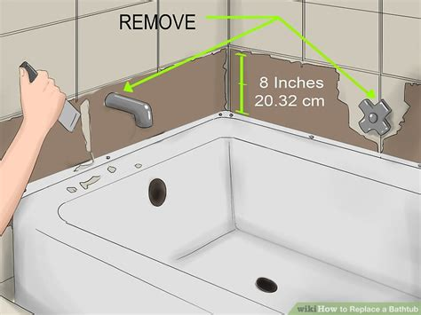 how to install a bathtub how to replace a bathtub 11 steps with pictures wikihow
