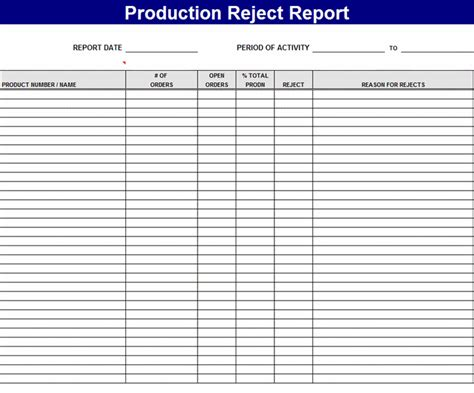 printable report templates part