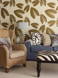 Superb zebra print wallpaper decorating ideas for Animal print furniture home decor
