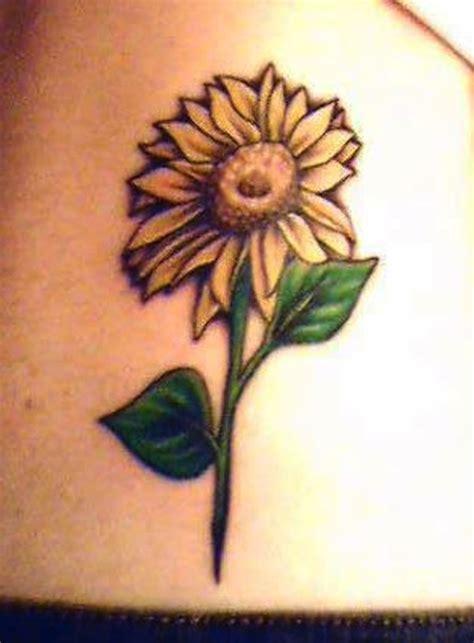sunflower tattoo  brighten  day