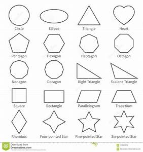 Forme Piane Del Profilo Geometrico Di Base Diagramma