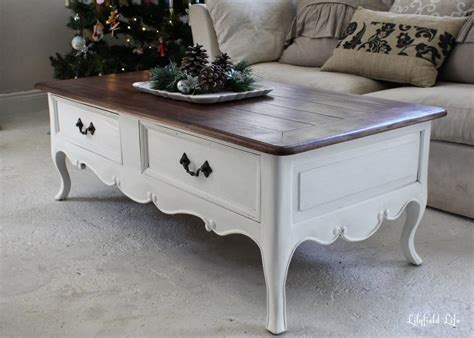White Painted Coffee Table  Coffee Table Design Ideas