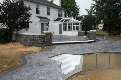 Gray Stamped Concrete Pool Patio, Retaining Walls, And. 84 X 42 Patio Table Cover. Lounge Furniture Rental In San Diego. Plastic End Caps For Patio Furniture. Diy Patio Furniture Pallets. Porch Swing London Ontario. Deck And Patio Together. Patio Furniture San Diego Warehouse. Patio Furniture Paint Repair